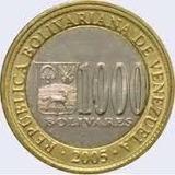 Moneda 1000 Bs 1bs Set Completo Of Venezuela