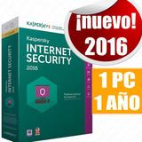 Licencia Kaspersky Internet Security 2016 1 Pc 1 Año Retail