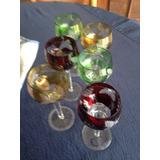 Copas Cristal De Baccarat Talladas En Colores