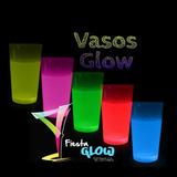 Vasos Neón, Fluorescentes, Glow Para Cumpleaños, Bodas Y Mas