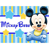 Kit Imprimible Mickey Bebe Disney Candy Bar Tarjetas Cump #1