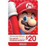 Tarjeta Nintendo Eshop $20 (código Digital)