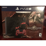 Ps4 Pro 1tb Edicion Monstr Hunter Sony Playstation 4+2 Juego