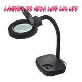 Lampara De Mesa Con Lupa 5x 10x Luz Flexible Led Hobbys Mone