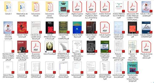 Todos Los Libros De Calculo Y Sus Solucionarios (ingenieria)