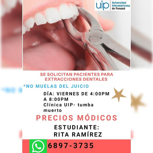 Extracciones Dentales Gratis. Uip Panamá