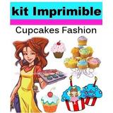 Mega Kit Imprimible Cupcake, Wrapper, Capacillos, Envoltorio