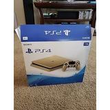 Ps4 Slim Consola De Oro 1tb Edición Limitada