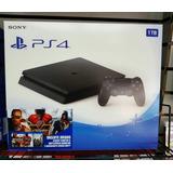 Playstation 4 De 1tb Con 1 Control Y 3 Juegos