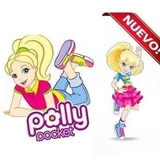 Kit Imprimible Polly Pocket, Invitaciones Nuevo