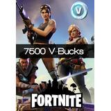 7500 V-bucks Fortnite  Recarga Directa