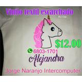 Impresiones En Vinilo Textil Escarchado Unicornio - Niñas -
