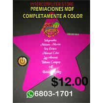 Premiación Mdf En Forma De Estrella Completamente A Color