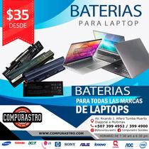 Venta De Baterias Para Laptops  De Todos Los Modelos