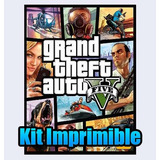 Kit Imprimible De Lujo De Grand Theft Auto V Gta