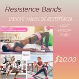 Bandas De Resistencia Elásticas Antideslizantes, Fitness.
