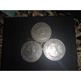 Lote De 3 Monedas De Omar Torrijos Del Año 82, 83 Y 84