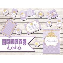 Kit Imprimible Princesa Sofia Corona Candy Bar Cumpleaños