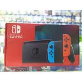 Nintendo Switch 2019 + 4 Juegos + Estuche