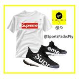 Conjunto Supreme / Caballeros / Zapatillas + Sueter