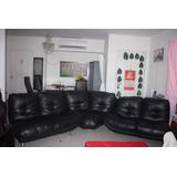 Hermoso Mueble En Cuero, Color Negro. #50769451857