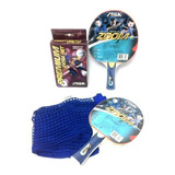 Raquetas Tenis Mesa Stiga Zoom Con Malla Premium Extra Kit