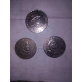 3 Monedas De Omar Torrijos Herrera 1982 De 1 Balboa