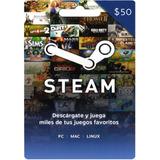 Tarjeta De Saldo Steam $50 (código Digital)