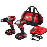 Milwaukee 2691-22 18v Compact Drill/impact Driver Combo Kit