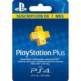Tarjeta De Membresia Playstation Plus 1 Mes (codigo Digital)
