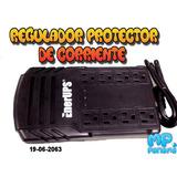 Regulador De Voltaje Protector 8 Tomas 110 Pc Tv Router Deco