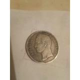 Moneda De Plata Estados Unidos De Venezuela 1905