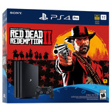 Ps4 Playstation 4 Pro 1tb Red Dead Redemption 2 Bundle
