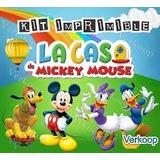 Kit Imprimible Para Tu Fiesta De La Casa De Mickey Mouse