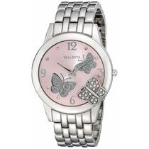 Reloj De Dama Super Chic Plateado Con Rosado