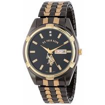 Elegante Reloj Polo Negro Con Dorado. Variedad De Modelos